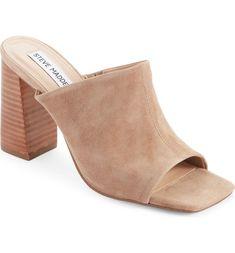 Teles Slide Sandal Slide Sandals, Steve Madden, Heeled Mules, Nordstrom, Heels, Leather, Outfits, Fashion, Sandals