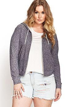 Relaxed Heathered Hoodie | FOREVER 21 - 2000068874