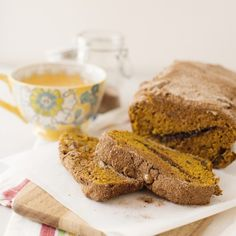 """Pumpkin bread is always delicious, but this Pumpkin Pecan Cinnamon Swirl Bread takes it to a whole other level. Hints of citrus and warm spice and a generous cinnamon swirl runs through this gorgeous bread."" - Bree of Baked Bree"