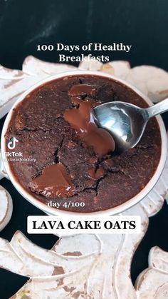 Healthy Lava Cake Recipe, Lava Cake Recipes, Lava Cakes, Fun Baking Recipes, Sweets Recipes, Cooking Recipes, Healthy Sweets, Healthy Baking, Healthy Mug Cakes