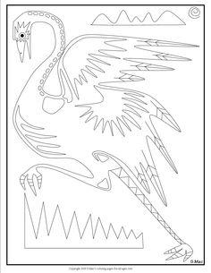 SMacs X Ray Art Dingo Coloring Page