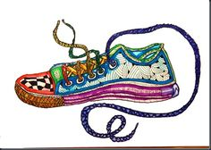 Maybe not zentangles...but I should find something new to do with students shoe drawings