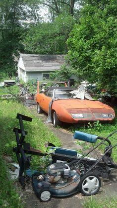 Daytona 1969 Dodge Charger Daytona, Dodge Daytona, Abandoned Cars, Abandoned Vehicles, Plymouth Superbird, Dodge Muscle Cars, Cool Old Cars, Chrysler Cars, Rusty Cars