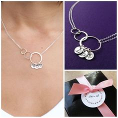 Items similar to Jewelry Gift for Mom, Silver Eternity necklace, Personalized mothers necklace, Mother of the bride gift, Mother of the groom gift on Etsy Jewelry Gifts, Handmade Jewelry, Jewellery, Mother Of The Groom Gifts, Friendship Necklaces, Letter Charms, Monogram Necklace, Beautiful Gift Boxes, Bride Gifts
