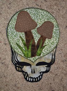 Steal Your Face shroom patch by GoodKarmaKreations on Etsy