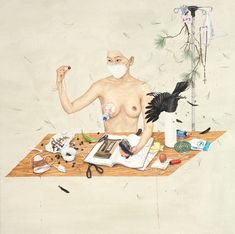 We have shown you the work of South Korean artist Lee Jin Ju on the site in the past, and the artist has contributed album cover art for Pains of Bein. Cover Art, Lee Jin, Guerrilla Girls, Ap Studio Art, Artist Profile, Korean Artist, Surreal Art, Erotic Art, Graphic Design Art