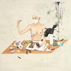 Las pinturas de artista coreano Lee Jin Ju son contemplaciones visuales de las preguntas se repiten con frecuencia en la vida. Lee Jin Ju se centra en el residuo de sus experiencias y emociones negativas, que resurgen constantemente en la vida cotidiana.