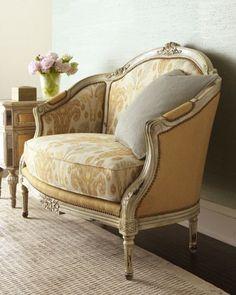 Upholstery on settee