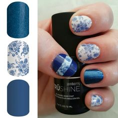 Lakeside, fine china and saphire jamberry wraps with a tru shine top coat