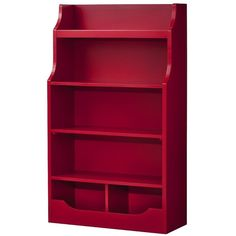 "Red 5-Shelf Bookcase 32"" x 13"" x 54.37"" ($150) ❤ liked on Polyvore"
