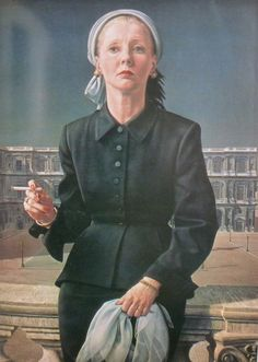 Carel Willink - Wilma with sigaret. Dutch Artists, New Artists, Hyper Realistic Paintings, Magic Realism, Up In Smoke, Dutch Painters, Portrait Art, Figure Painting, Female Art