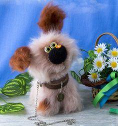 Buy Nicky puppy - fluffy, made to order - beige, dog, puppy, toy dog