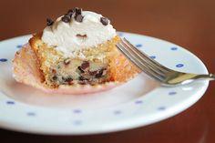 cookie dough cupcake.