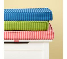 Kids' Toy Boxes: Kids Colorful Stripe Toy Box Cushions