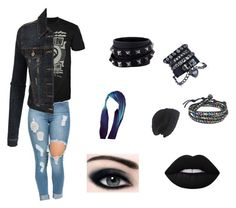 """""""Emo pack."""" by insideimdyingslowly on Polyvore featuring LE3NO, Lime Crime, Laundromat, AeraVida and Valentino"""