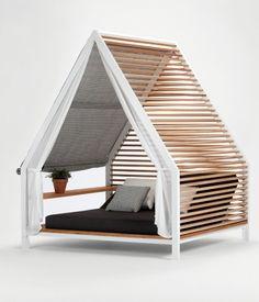 """Gartenbett mit Überdachung: """"Cottage"""" von Kettal"""