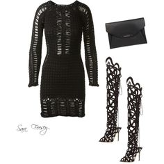 Untitled #15 by sara-elizabeth-feesey on Polyvore featuring polyvore, fashion, style, Balmain, Sophia Webster and Givenchy