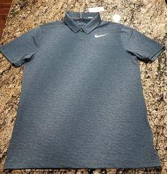 b7790bb8 Nike TW Dry Blur Stripe Golf Polo Tiger Woods Shirt Men's Medium 854209 454  #Nike