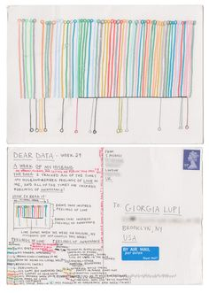 Dear-Data (www.dear-data.com) Week 29- A week of boyfriend/husband! Postcard by Stefanie