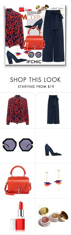 """""""IFCHIC.COM SUMMER SALE"""" by pesanjsp ❤ liked on Polyvore featuring Karen Walker, TIBI, Dee Keller, Carven, Clinique and Kylie Cosmetics"""