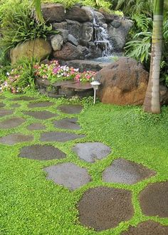 Path with stepping stones