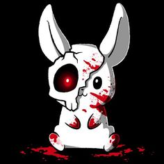 Get the black Spoopy Bunny t-shirt only at TeeTurtle! Anime Animals, Cute Animals, Creepy, Pokemon, Nerdy Shirts, Funny Bunnies, Cute Animal Drawings, Kawaii Art, Funny Art