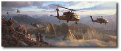 AVIATION ART HANGAR - A New Dawn: Afghanistan by Matt Hall (UH-60 Black Hawk)