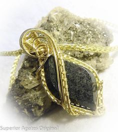 On Sale Forest Green Jade Brass Wire Wrapped by superioragates, $67.50