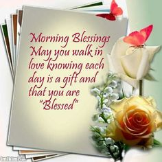 Good Morning... A Blessed Day Everyone!