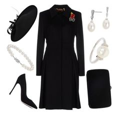 A fashion look from November 2016 featuring ESCADA, high heel shoes and man bag. Browse and shop related looks. Elegant Outfit, Classy Dress, Classy Outfits, Chic Outfits, Coco Chanel Dresses, Posh Dresses, Royal Clothing, Estilo Real, Prom Dress Shopping