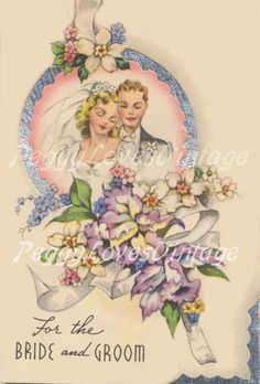 Vintage 1950s Congratulations On Your Wedding Anniversary DOLLAR Greetings Card