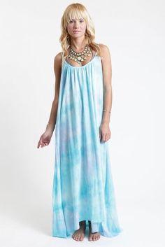 9 Seed Tulum Maxi Cover-Up in Ocean Tie Dye