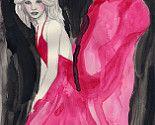 pink - fashion illustration - miss mel