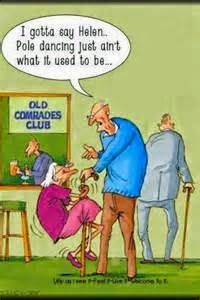Dumbass Cartoon of the Day ---> Old Lady Pole Dancing!