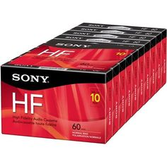 Sony Corporation - Sony C60hfr Type 1 Audio Cassette - 10 X 60 Minute Product Category: Audio/Video Media/Audio Cassettes