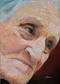 Portrait pastel sec - Portrait soft pastel - artist Tiziana Ceschin - TRACCE DI SAGGEZZA - Pastello su Pastelmat 50 \70 Pastel Portraits, Pastel Paintings, Pastel Art, Female Portrait, Portrait Art, Painting & Drawing, Older Women, Drawings, Face