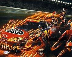 nice Jeff Gordon Autographed Picture - Racing 11x14 #z47490 - PSA/DNA Certified - Autographed Photos