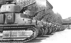 somua s35 tank | French built Somua S35 Tanks of the German Army prior to heading to ...