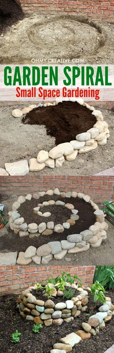 This Garden Spiral is a great way to create a vegetable garden when you only have a small space to work with. Plus it looks pretty in the yard - a great conversation piece!  |  http://OHMY-CREATIVE.COM