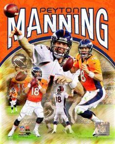 Peyton Manning Denver Broncos 2012 NFL Poster