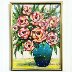 #flori #tablou #pictura #arta #flowers #art Colorful, Painting, Black, Painting Art, Paintings, Painted Canvas
