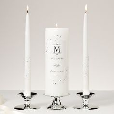 Exclusively Weddings Piazza Lace and Crystals Unity Candle and Tapers Set With Red Crystals! Beautiful!