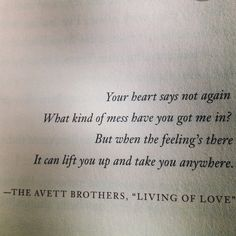 day 1 · favorite song · living of love by the avett brothers