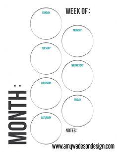 Free Circles Weekly Planner Printable