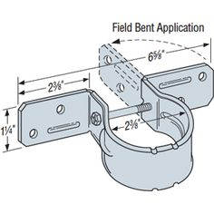 PGT® Pipe Grip Ties: To attach an existing (chain link fence) post to wood.