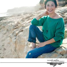 Personal Branding Photo with Alicia Garcia at Natural Bridges State Beach by Wendy K Yalom Photography {creative portrait, headshot, professional portrait, artistic, coach, life coach, author, blogger, speaker, consultant}