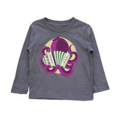 Cute tees - Accordian 2 You T-Shirt LS (Asphalt)
