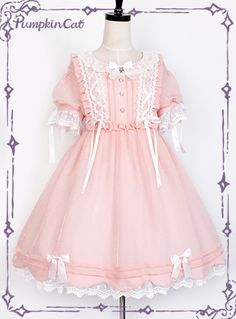 Cats by Patricia Harajuku Fashion, Kawaii Fashion, Lolita Fashion, Cute Fashion, Fashion Styles, Pink Outfits, Cute Outfits, Little Girl Dresses, Girls Dresses