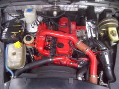 Land Rover series II A - Defender chassis - Motor Nissan 3.2 Turbo diesel - Cold air intake to K&N apollo filter