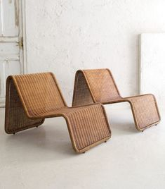at home + furniture + wicker lounge chair